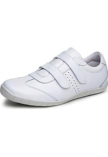 Sapatênis Calçar Bem Velcro Branco