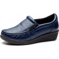 ca32a5aaa0 Tricae. Mocassim Doctor Shoes 200 Zíper Azul-Marinho