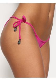 Calcinha Tanga Com Aviamentos & Uv 50+®- Pink- Karlakarla Vivian