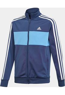 Jaqueta Infantil Adidas Yb Ts Tiberio Masculina - Masculino-Azul+Branco