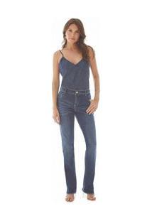 7c96cde9f0 Calca Straight M. Helena Cos Intermediario Recorte Bolso Fre Jeans