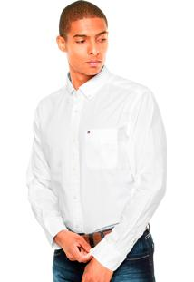 Camisa Tommy Hilfiger Masculina Classic Fit Capote Branca