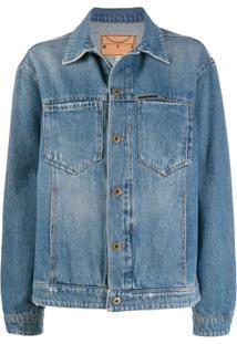 Mcq Alexander Mcqueen Jaqueta Jeans Com Efeito Desbotado - Azul