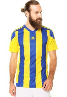 1fc6a9f6a22 Camisa Adidas Performance Striped 15 Azul Amarela