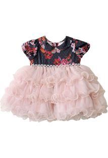Vestido Cacau Baby Luna Colorido