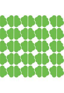 Adesivo De Parede Nuvens Verde Claro 45Un - Tricae