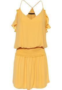 Vestido Babado Elastic - Amarelo
