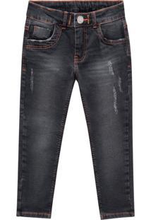 Calça Jeans Infantil Menino Milon Preto