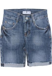 Bermuda Jeans John John Menina Afonso Azul