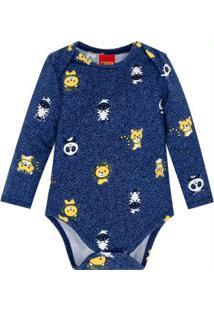 Body Bebê Azul Marinho
