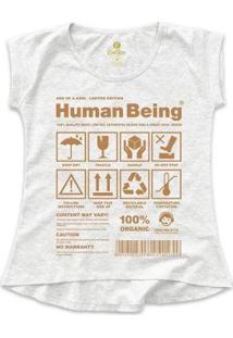 Camiseta T-Shirt Cool Tees Seres Humanos Feminina - Feminino-Mescla Claro