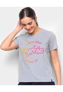 Camiseta T-Shirt Cantão Degrade Classic Carn Feminina - Feminino-Colorido