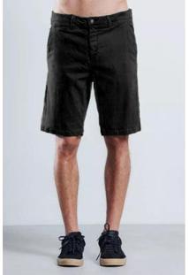 Bermuda Alfaitaria Comfort Armadillo Masculina - Masculino-Preto