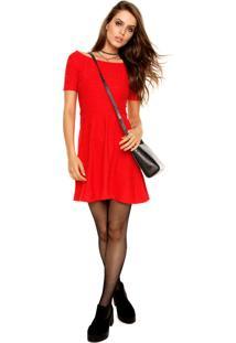 Vestido Colcci Curto Evasê Vermelho