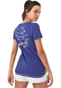 Camiseta Alto Giro Skin Fit Kindness Azul-Marinho/Verde