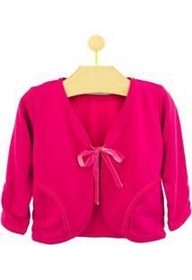 Casaco Infantil Pandi Moletim Laço Feminino - Feminino-Pink