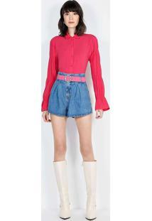 Shorts Clochard Com Cinto Unico Sho23228 Jeans Mul