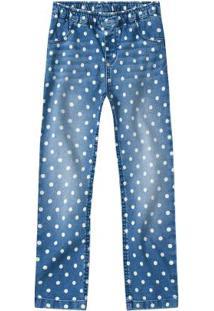 Calça Azul Jeans Reta Poá
