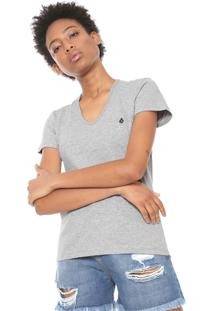 Camiseta Volcom Stone Cinza