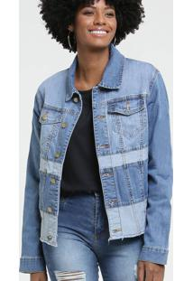 Jaqueta Feminina Jeans Recorte Sawary