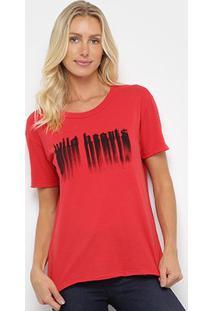 Camiseta Ellus Wild Hecrts Básica Feminina - Feminino