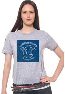Camiseta Feminina Joss - Havaiian Surf - Feminino-Mescla