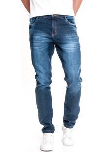 Calça Jeans Tex Five Slim Fit Azul