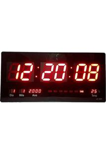 ea90efb9179 Relógio De Parede Digital Led Gigante Data Termometro