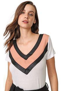 Camiseta Acostamento Resinada Off-White/Preta