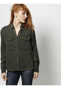 Camisa Dark Green Com Bolsos - Verde Militarjohn John eeccce6b4f806