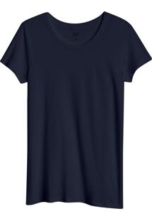 Camiseta Gap Básica Azul-Marinho