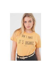 Camiseta Colcci Organic Amarela