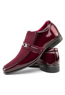 Sapato Social Verniz Masculino Rebento Bordo