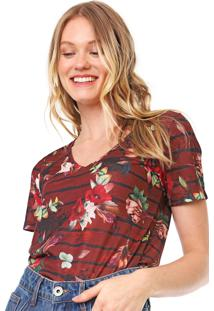 Camiseta Cantão Boho Flower Marrom
