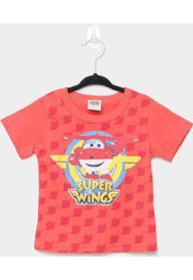 Camiseta Infantil Marlan Super Wings - Masculino-Vermelho