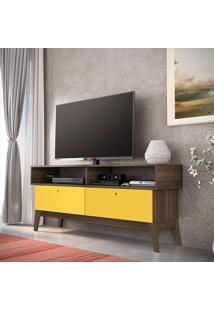 Rack Para Tv Retrô Fosco/Brilho – Genialflex - Demolição / Amarelo