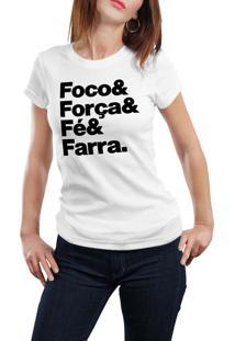 Camiseta Hunter Foco E Farra Branca
