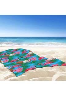 Toalha De Praia / Banho Flamingos Bahamas Tropical