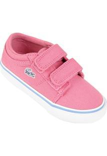 Tênis Lacoste Vaultstar Ppg Infantil - Feminino-Rosa+Branco 5ed4eb010c