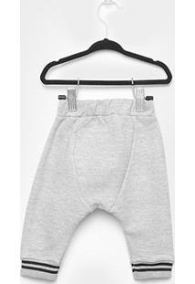 Calça Bebê Milon Moletom Masculina - Masculino-Cinza