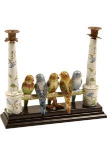 Castiçal De Porcelana Bird