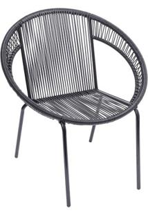 Cadeira Cancun- Preta- 79X73X43Cm- Or Designor Design