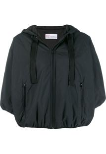 Red Valentino Cropped Windbreaker Jacket - Preto
