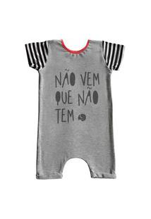 Pijama Curto Comfy Náo Vem Que Náo Tem