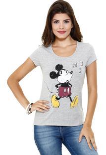 Blusa Feminina Manga Curta Estampa Mickey Disney