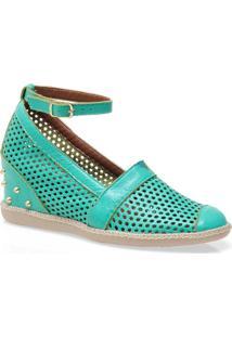 Summer Sneaker Fem Anna Brenner 1005 Verde