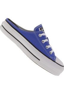 Tênis Mule Converse All Star Chuck Plataforma Ct1210 - Feminino - Azul Claro