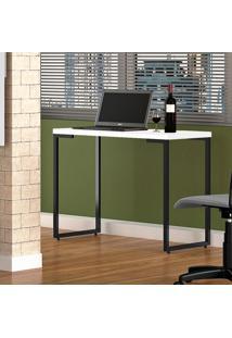 Mesa Para Computador Fit Mobel Escrivaninha Porto 90Cm Branco