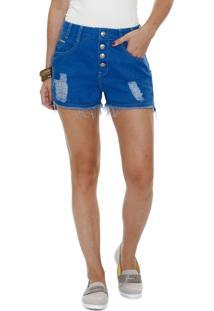 Short Feminino Jeans Puídos Marisa