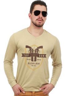 87b507c847 Camiseta Manga Longa Top Gun Team Six Military Wear - Masculino